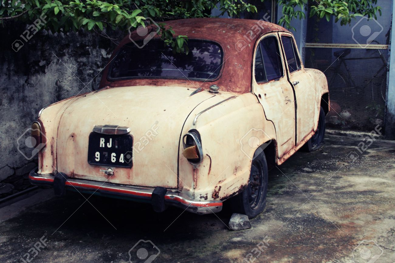 Rusty Old Car In India Stock Photo, Picture And Royalty Free Image ...