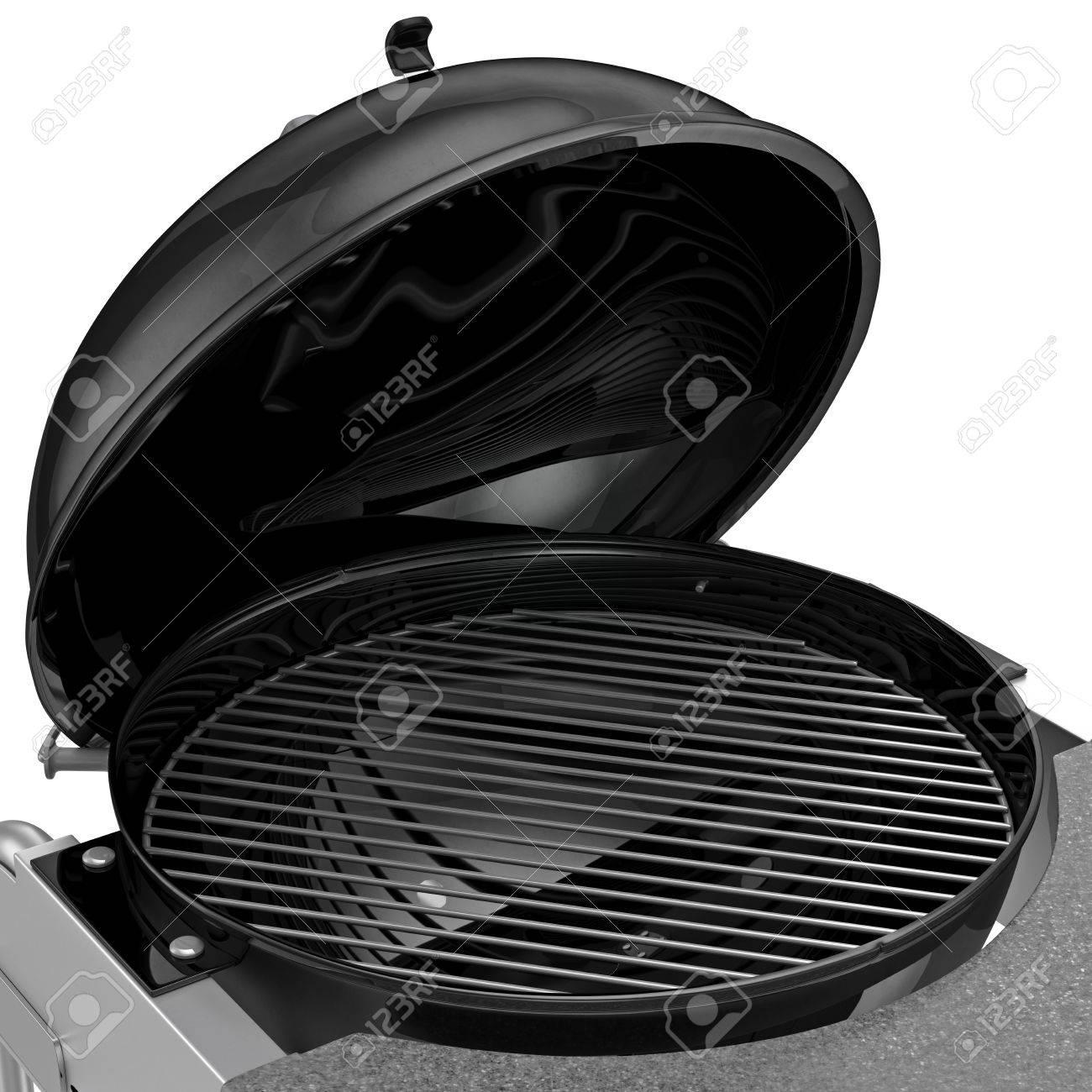 Barbecue Au Charbon Avec Pliage Couvercle En Métal Pour La