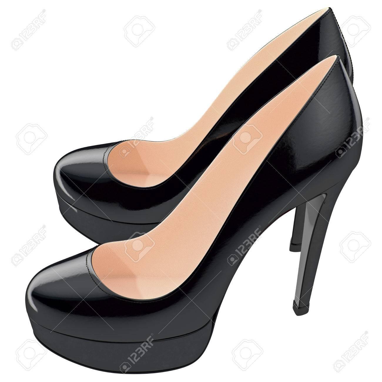 Altos De Negros Lackered Objeto 3d Mujeres Tacones Zapatos Las En E50wnqqF