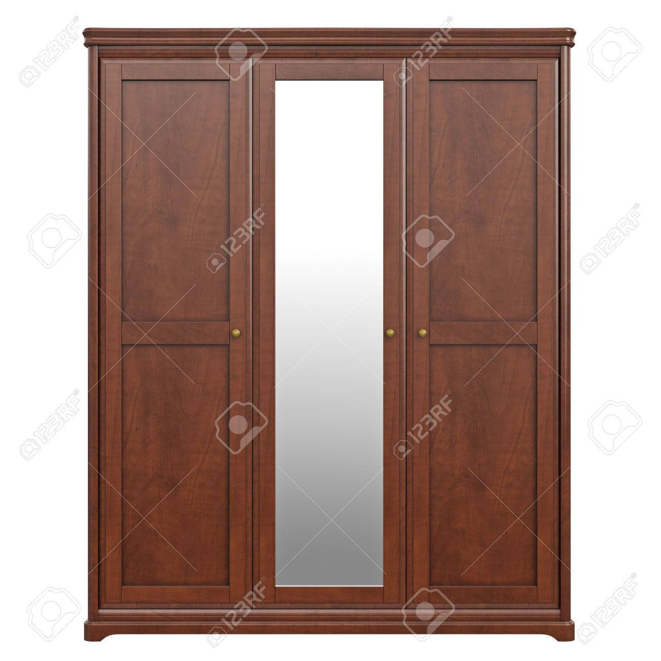 Cabinet Wardrobe, Front View. 3D Graphic Isolated Object On White ... for Wardrobe Front View  83fiz