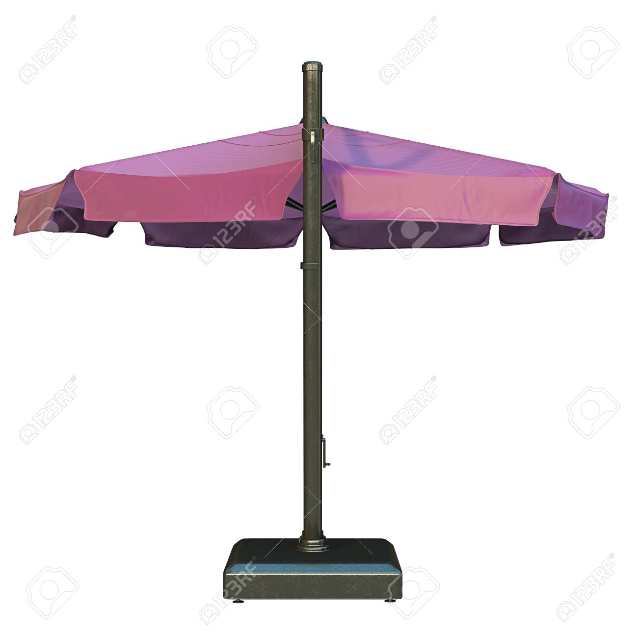 Sun Umbrella For Relax Back View 3d Graphic Stock Photo Picture