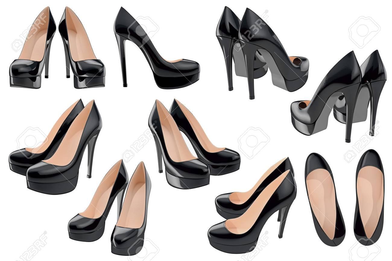 De Charol Las En Tacones Mujeres 3d Set Zapatos AltosGráfico Y6ybf7g