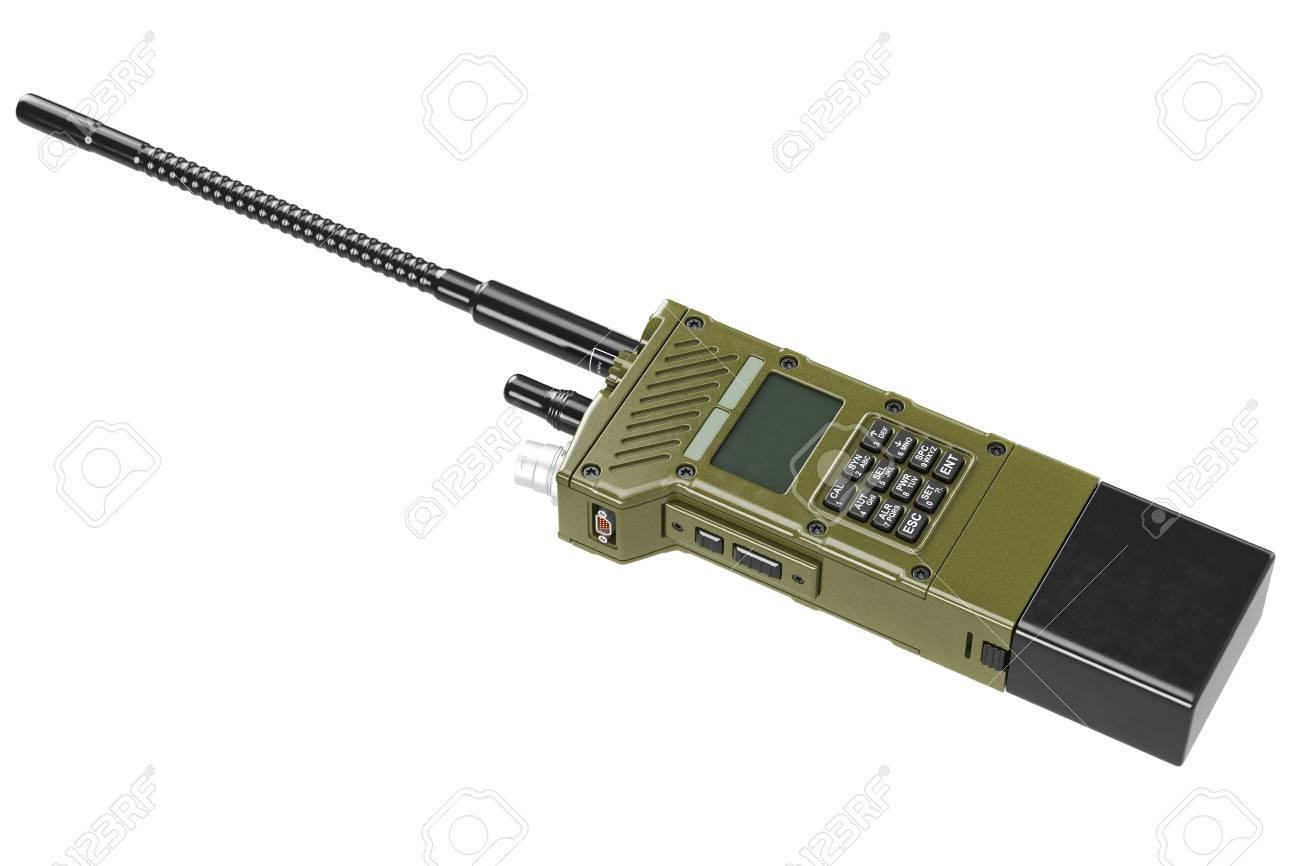Military radio khaki army digital technology  3D graphic
