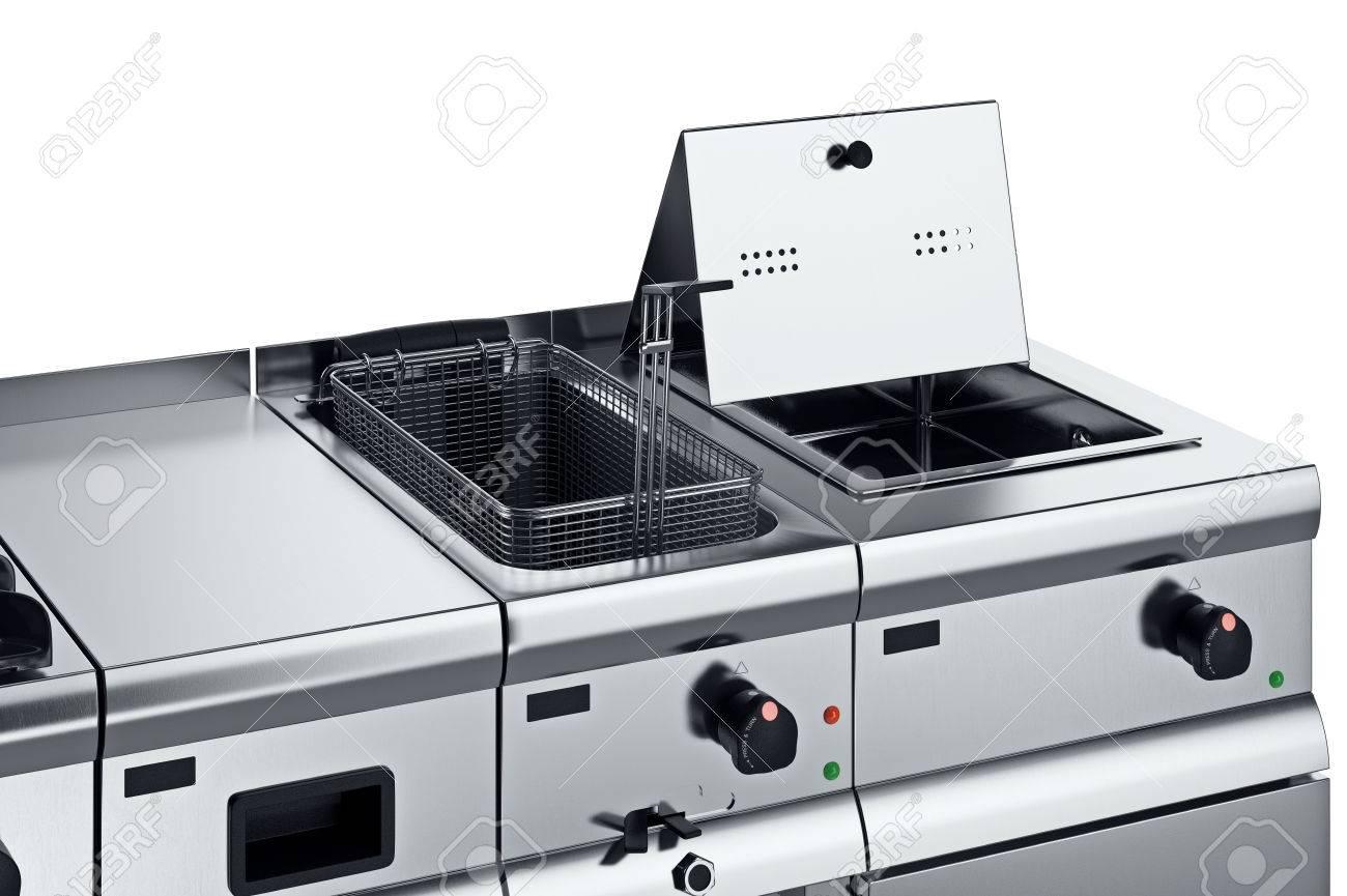attrezzature da cucina professionale con friggitrice, vista vicina ... - Attrezzi Da Cucina Professionali