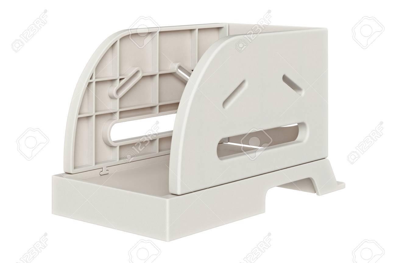 Plateau de papier accessoires de bureau en plastique. graphique 3d