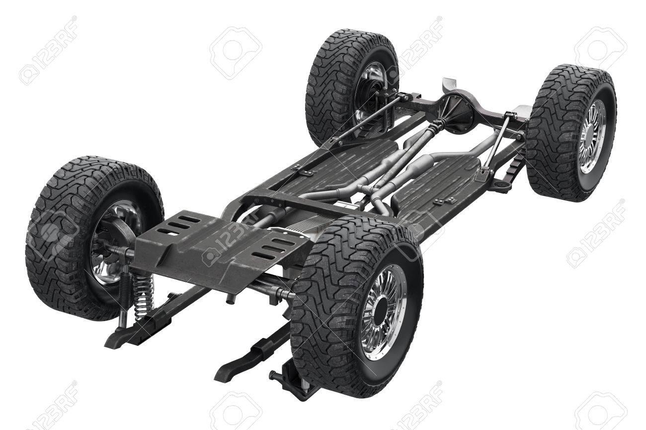 Bastidor Del Chasis Del Chasis De Metal Auto. Representación 3D ...