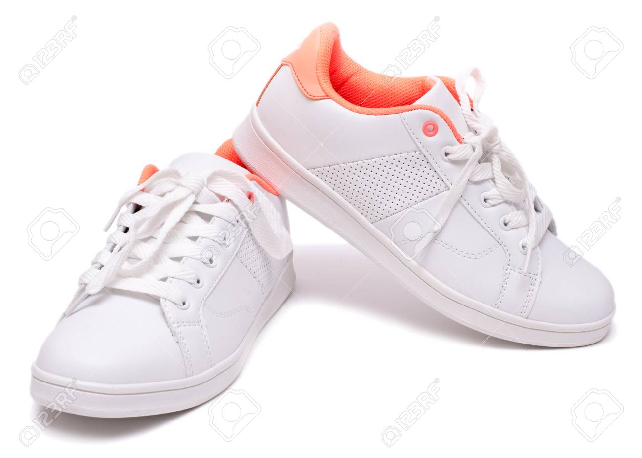 White Background. Sport Shoes