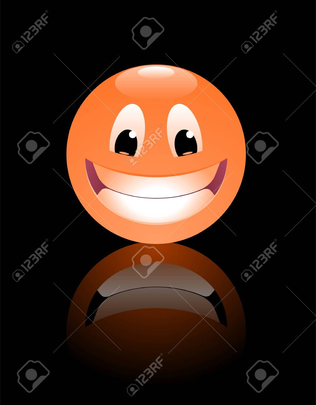 Smiley Face. Funny cartoon face in form of a ball. - 149916759