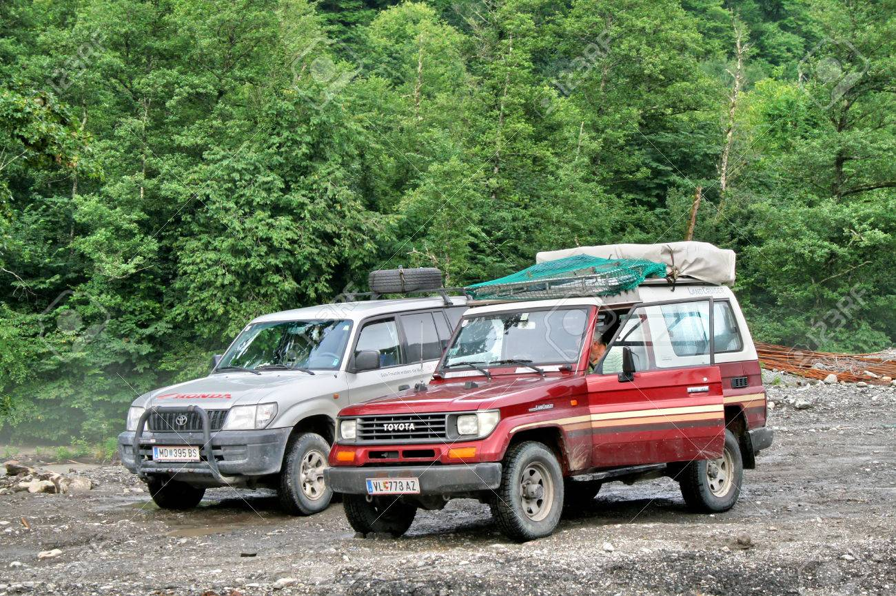 Sochi Russia July 20 Toyota Land Cruiser Off Road Cars Take Part At