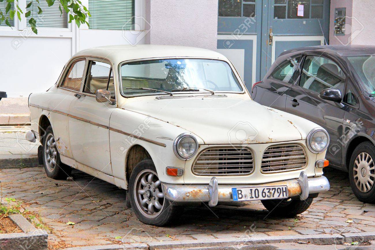 Berlin Germany August Swedish Retro Car Volvo Amazon