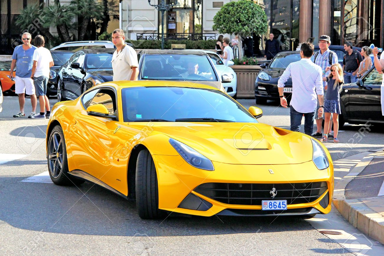 Monte Carlo Monaco August 2 2014 Yellow Italian Supercar Stock Photo Picture And Royalty Free Image Image 37796146