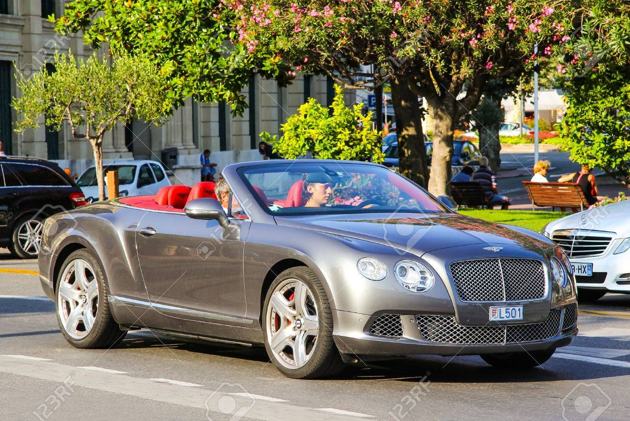 CANNES, FRANCE   AUGUST 3, 2014: Modern Sportscar Bentley Continental GTC  At The