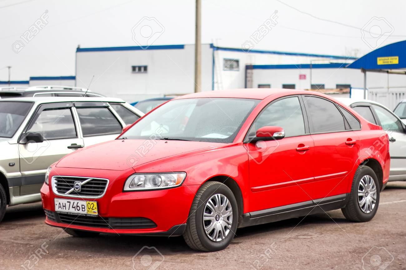 UFA, RUSSIA - APRIL 19, 2012: Motor Car Volvo S40 At The Used ...