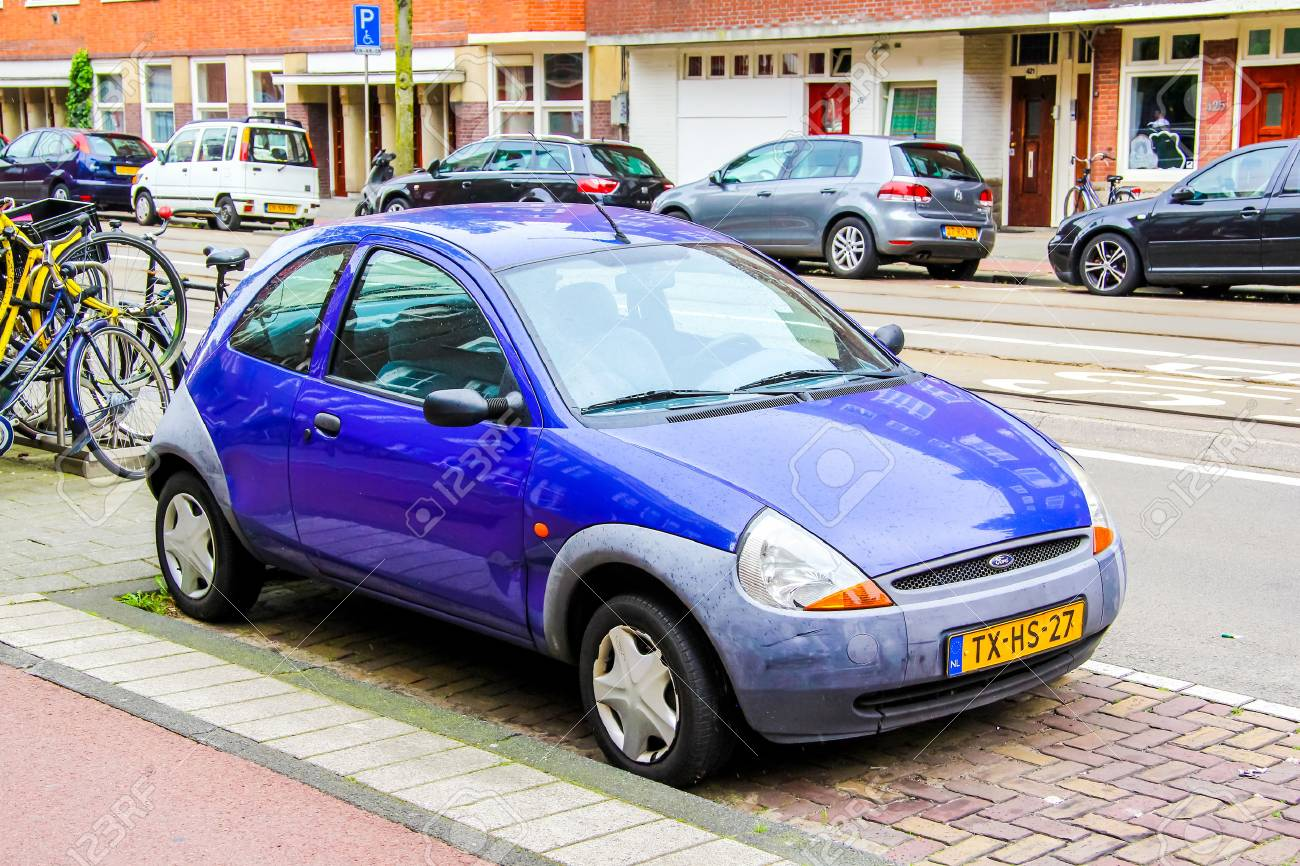 Amsterdam Netherlands August   Motor Car Ford Ka At The City
