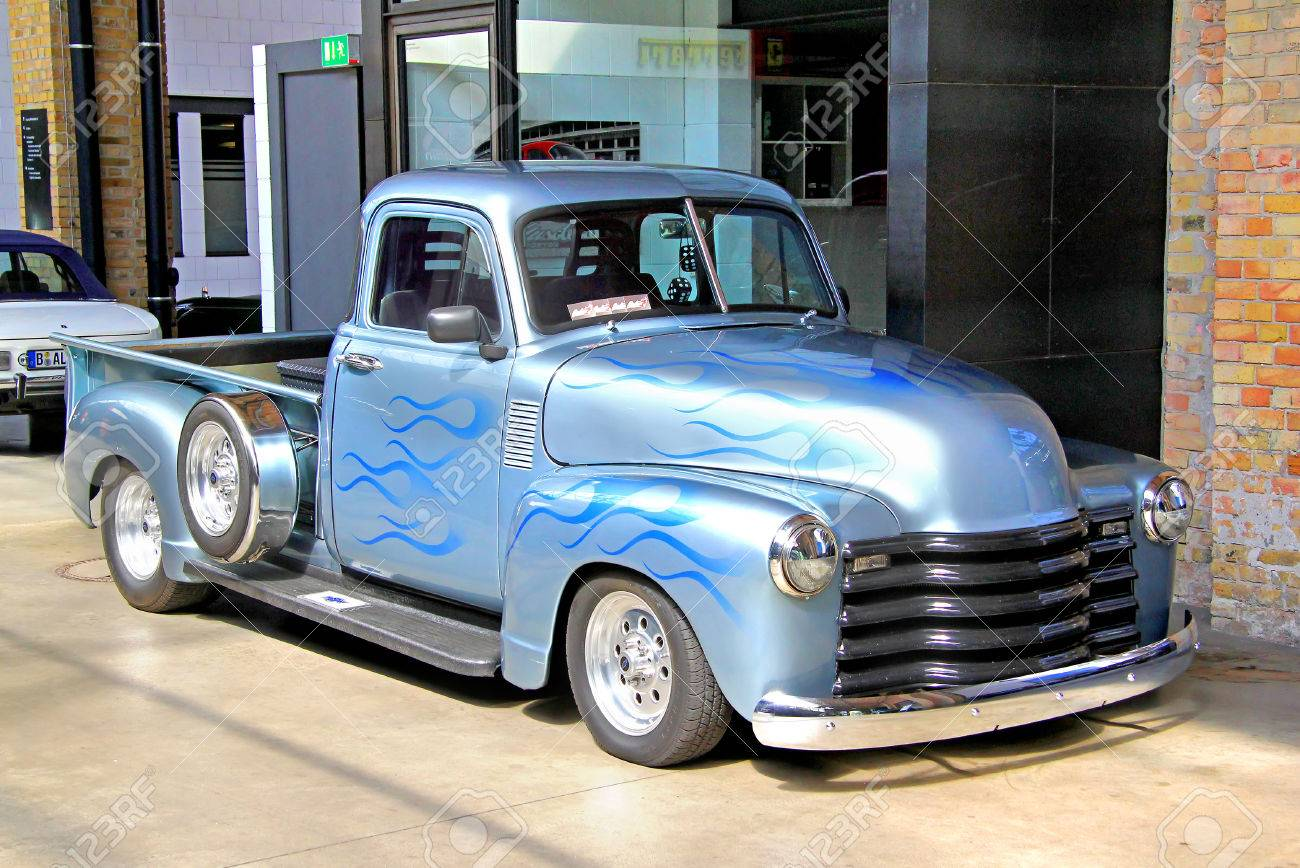 BERLIN, GERMANY - AUGUST 12, 2014: Classic American Pickup Truck ...