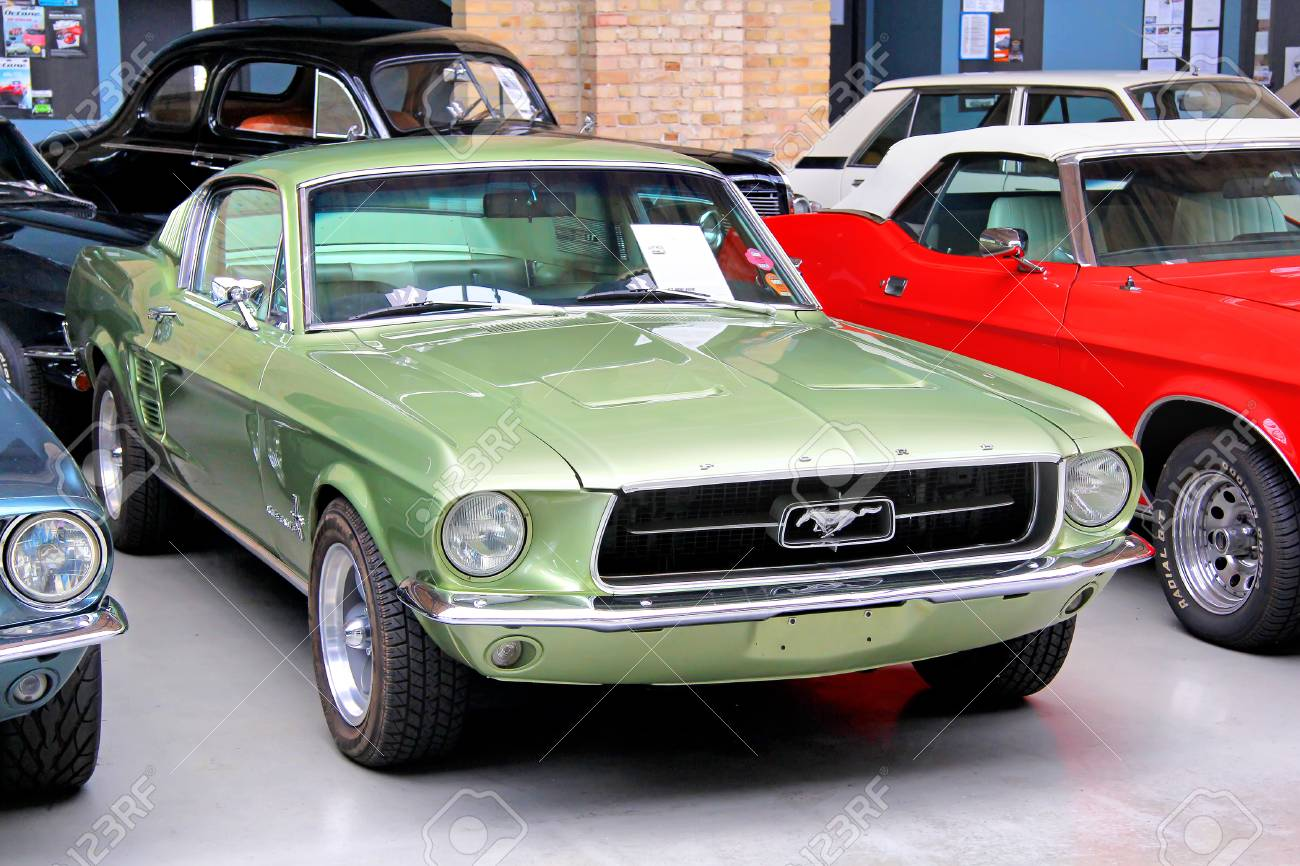 BERLIN, GERMANY - AUGUST 12, 2014: Classic American Muscle Car ...