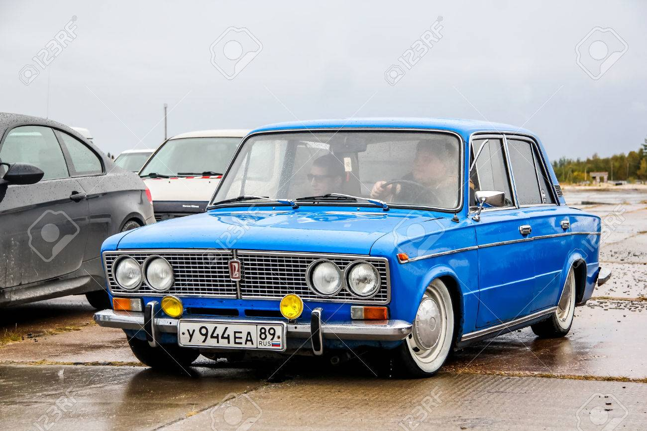 NADYM, RUSSIA - AUGUST 29, 2015: Motor car Lada 2103 at the city