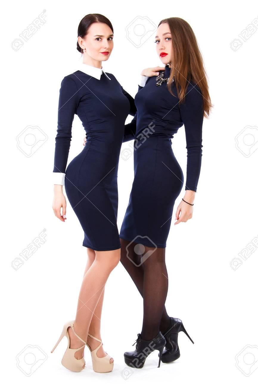 Vestido azul oscuro corto