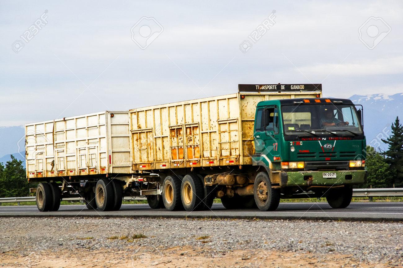 Nissan Diesel Truck >> O Higgins Chile November 19 2015 Trailer Truck Nissan Diesel