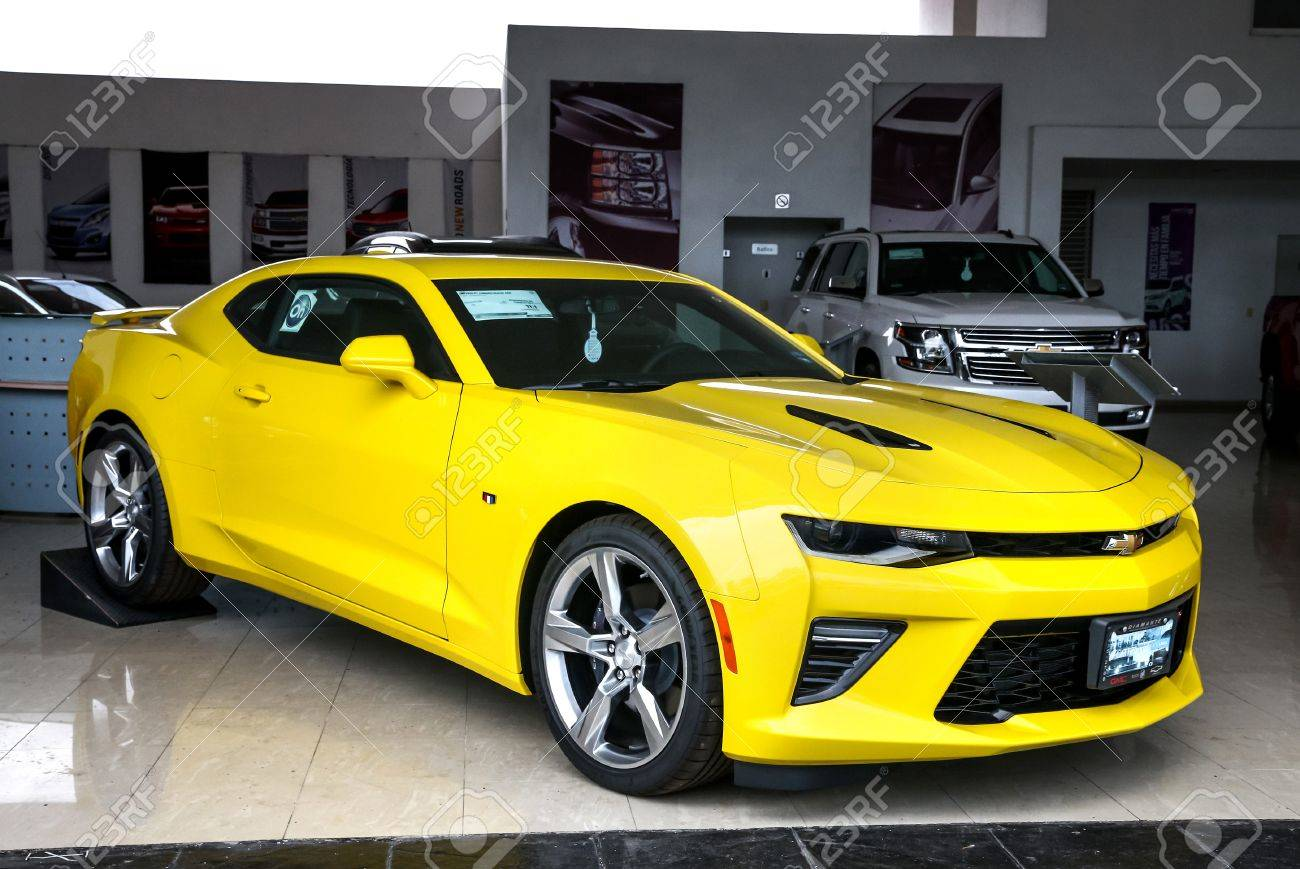 Camaro Stock Photos Royalty Free Images 1976 Chevy Yellow Acapulco Mexico May 28 2017 Brand New Sports Car Chevrolet In