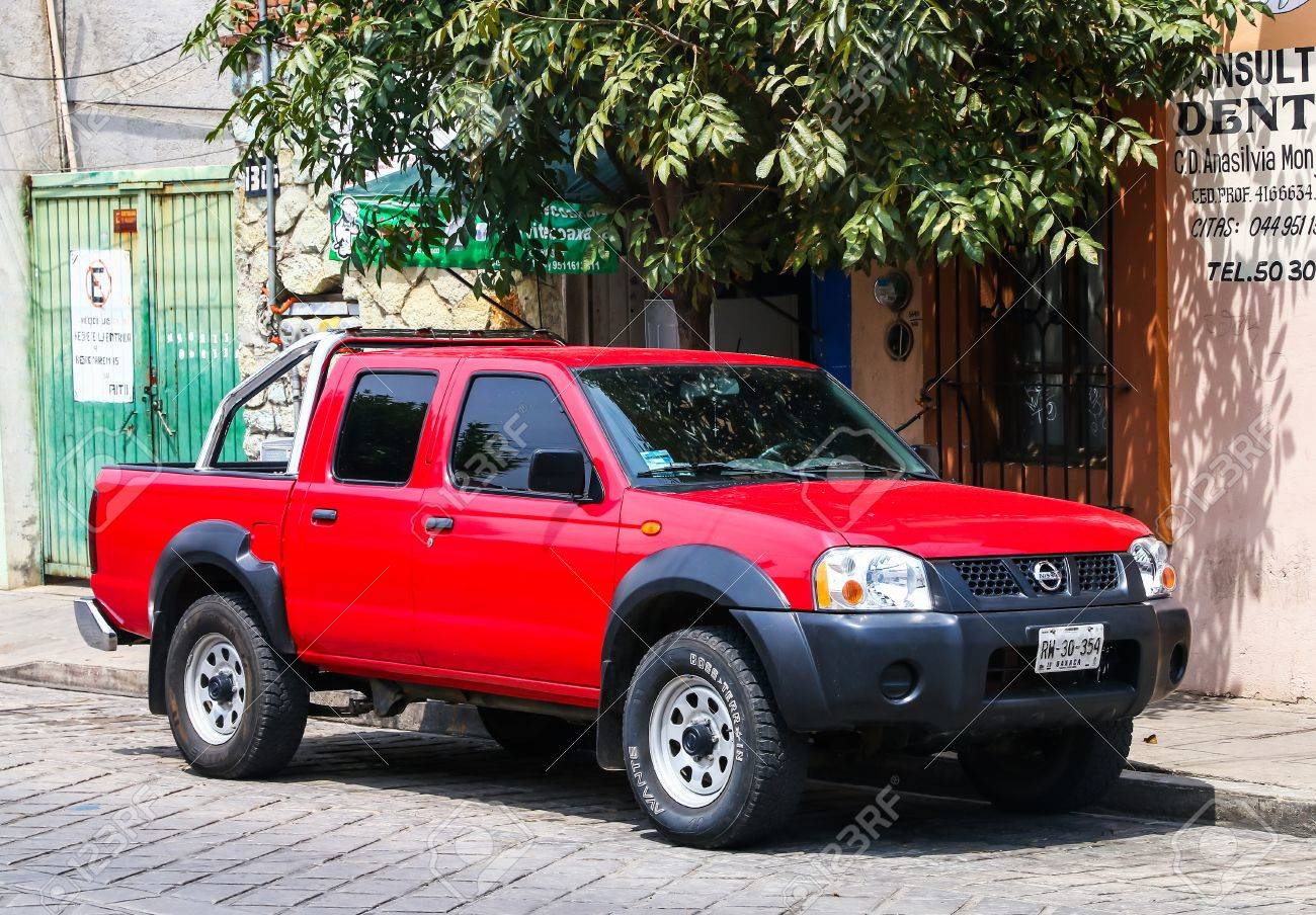 Oaxaca Mexico May 25 2017 Red Pickup Truck Nissan Frontier