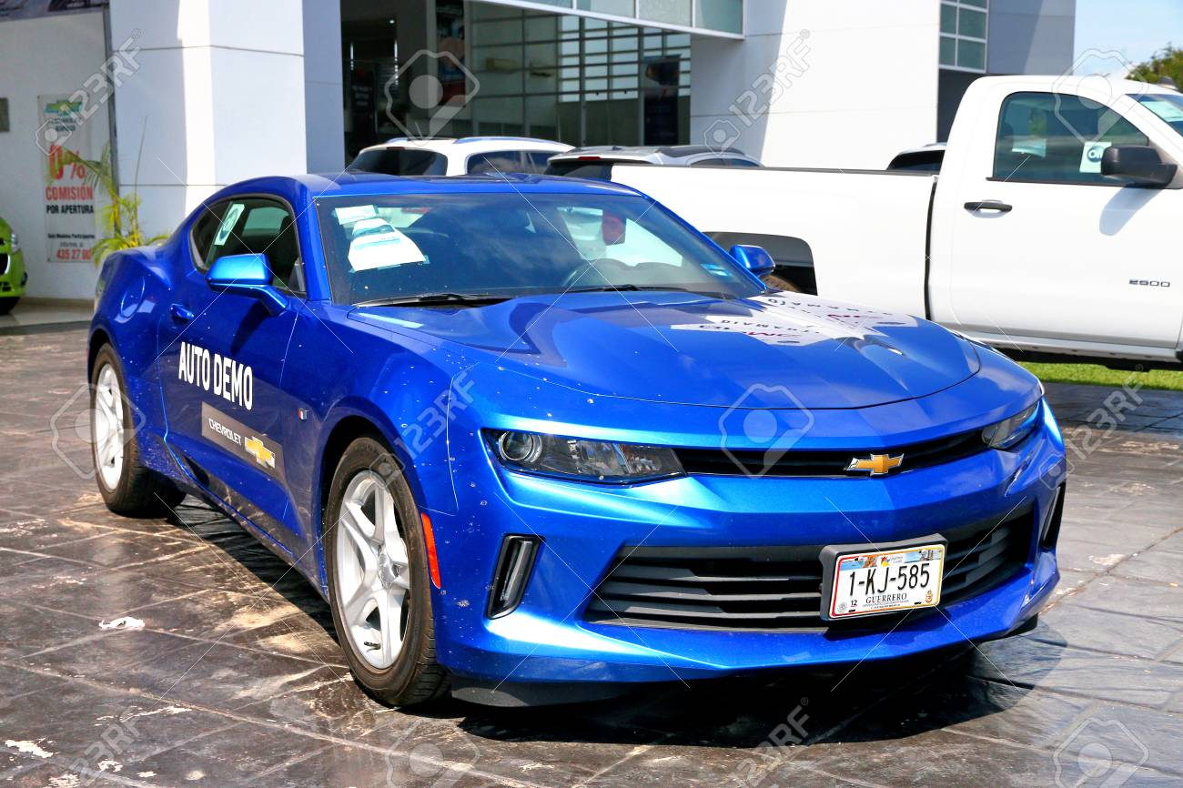 Acapulco Mexico May 29 2017 Dark Blue Muscle Car Chevrolet Stock Photo Picture And Royalty Free Image Image 90642578