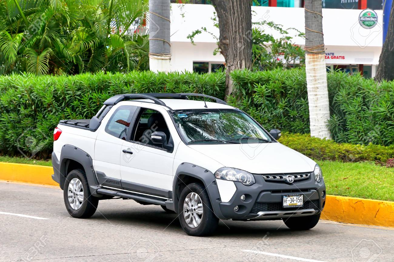 acapulco, mexico - may 30, 2017: pickup truck ram 700 adventure in the