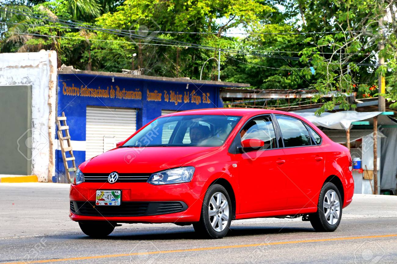 Palenque Mexico May 22 2017 Red Motor Car Volkswagen Vento Stock Photo Picture And Royalty Free Image Image 92900935