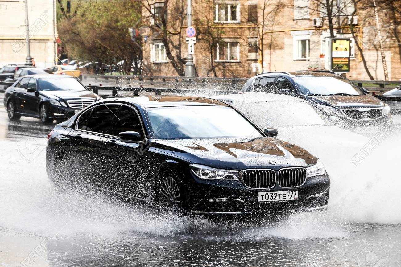 Moscow Russia May 2 2018 Motor Car Bmw G12 7 Series In