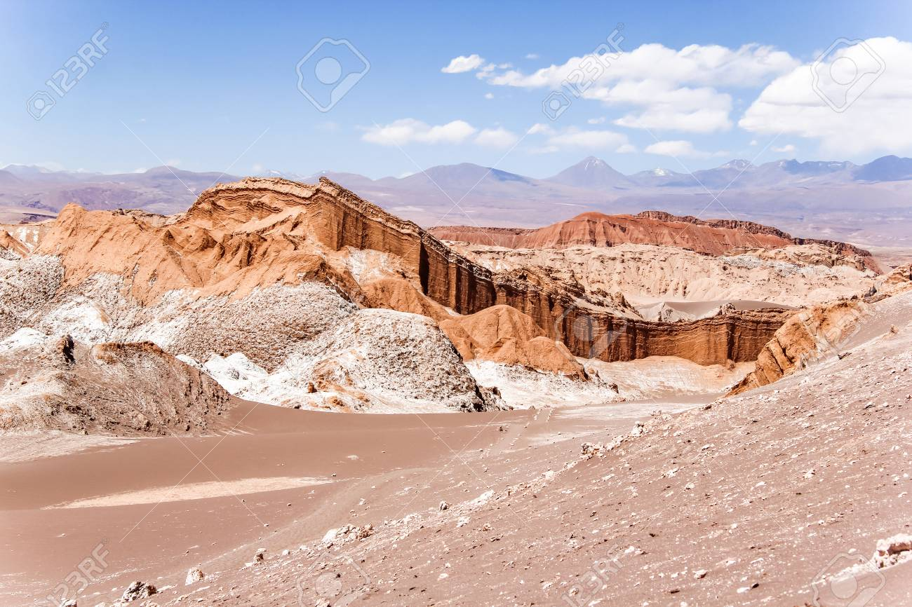 The Moon Valley Valle De La Luna In The Atacama Desert Chile Stock Photo Picture And Royalty Free Image Image 102507505