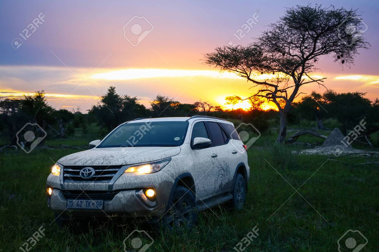 Ngamiland Botswana February 10 2020 White Offroad Car Toyota Stock Photo Picture And Royalty Free Image Image 142310247