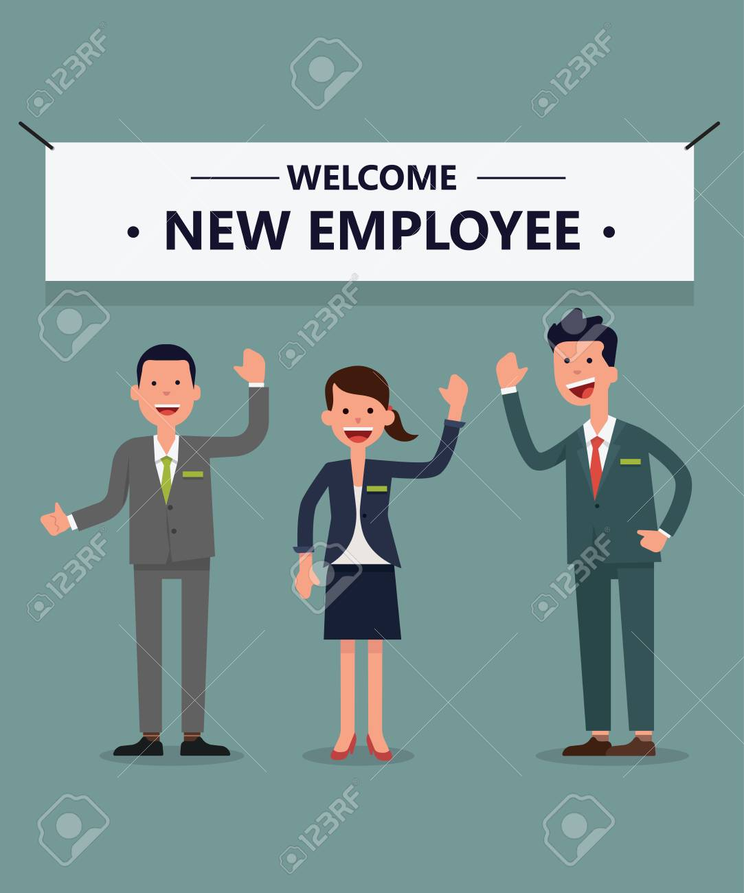 Welcome new employee royalty free cliparts vectors and stock welcome new employee thecheapjerseys Choice Image