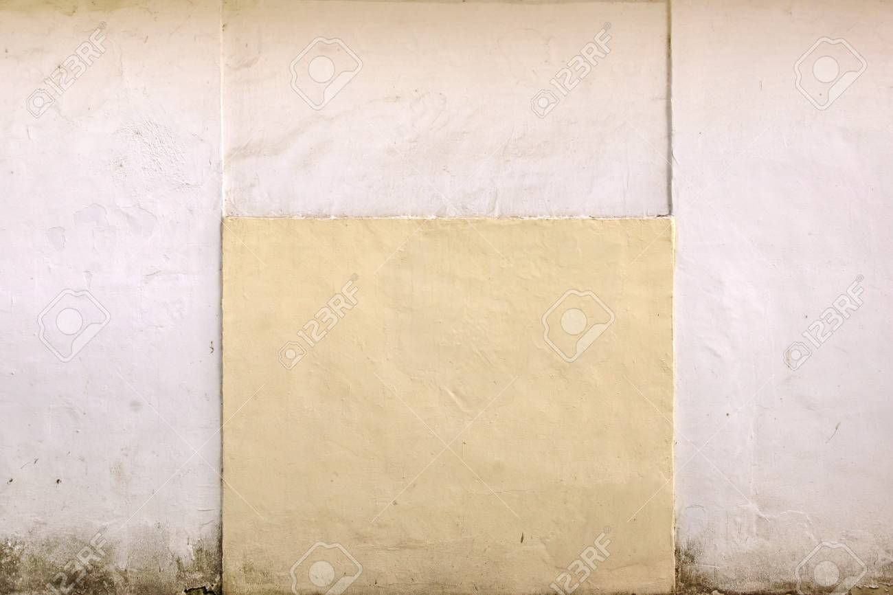 Painted White And Pastel Color Concrete Wall Stock Photo, Picture ...