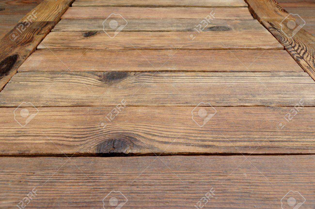 Perspective Of Rustic Rough Wood Planks Or Empty Table Or Floor ...