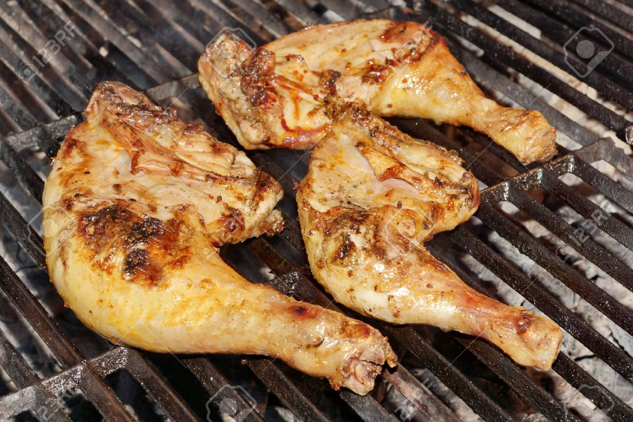 Grilled Chicken Legs On The Hot Barbecue Charcoal Grill Stock Photo Picture And Royalty Free Image Image 39123508