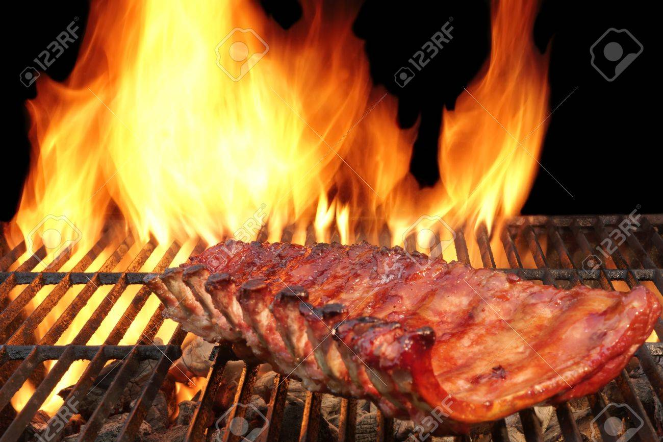 Bbq Pork Spicy Spare Ribs Marinated And Smoked Pork Ribs On The Stock Photo Picture And Royalty Free Image Image 39334156