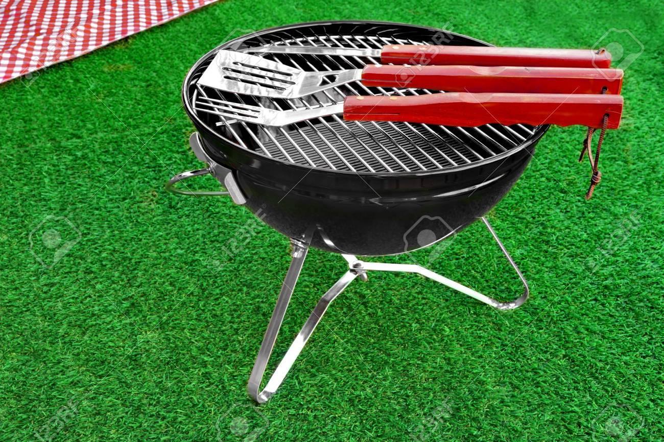 Summer BBQ Party Grill Ou Pique nique Concept. Barbecue à