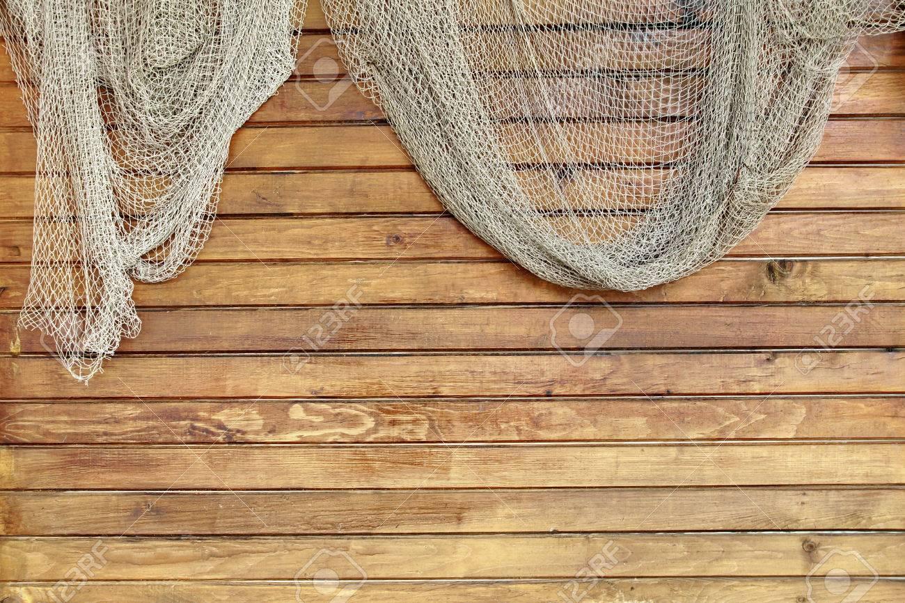colgando de red en el fondo de madera rstica listones de pared gringe fondo de