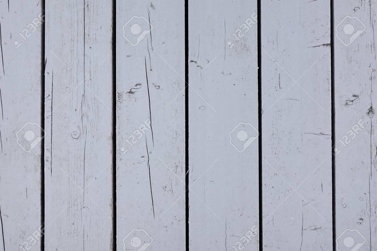White Patio Wooden Weathered Planking Decking Flooring Background