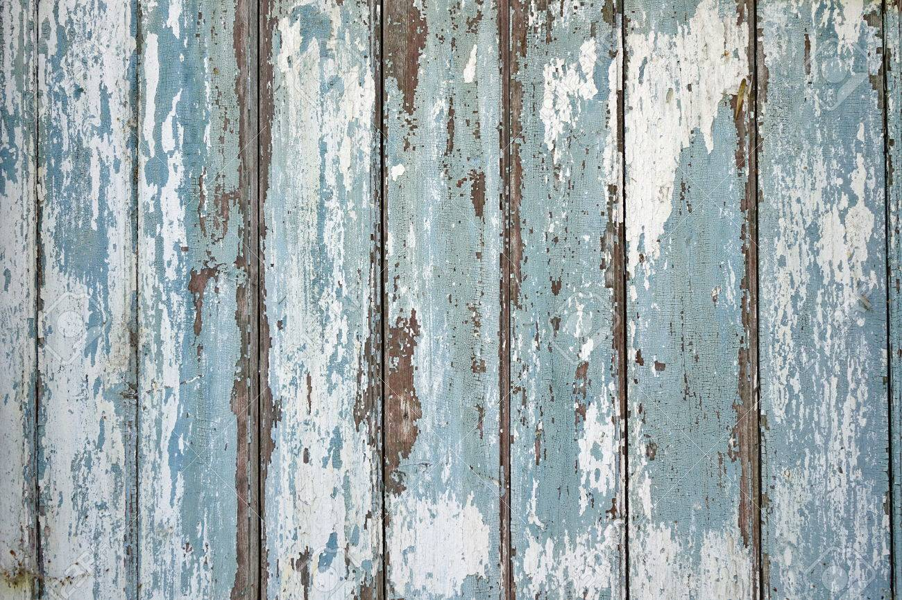 Blue Barn Wooden Wall Planking Horizontal Texture Old Solid Stock