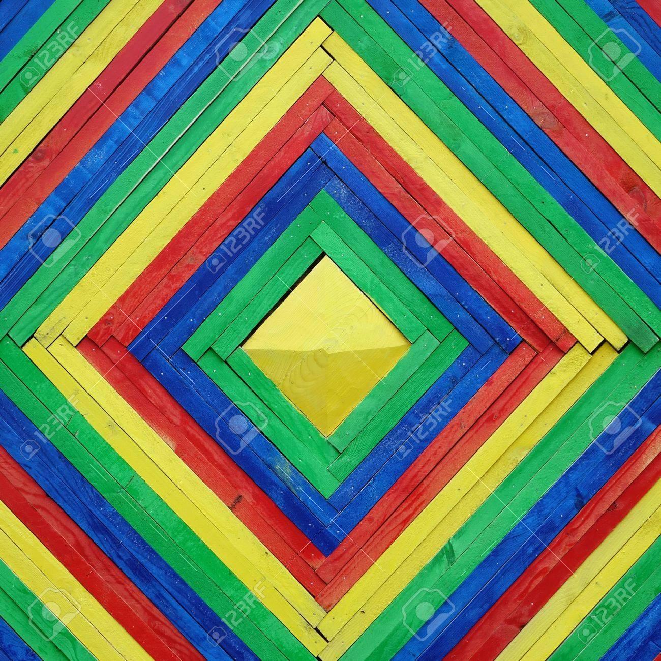 dekoratives dekoratives hölzernes mosaik-fliesen-feld-bunte rahmen