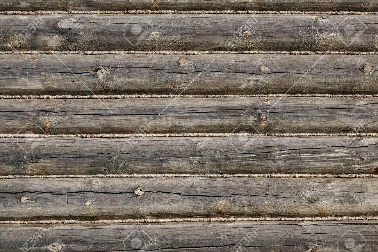 Texture De Fragment De Facade De Facade De Cabane En Rondins Naturel
