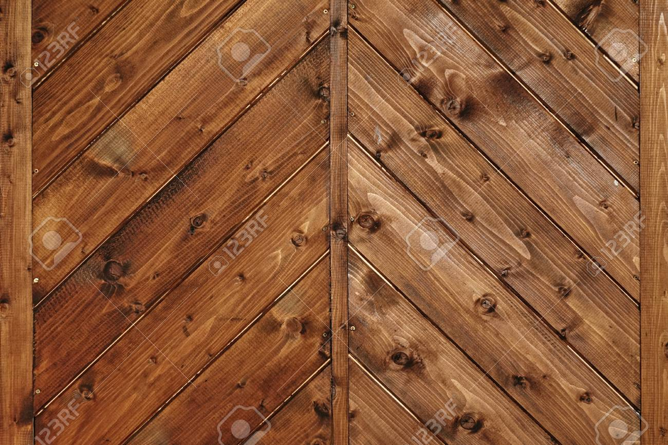 Tiled Wooden Wall Planking Horizontal Texture Old Rustic Wood