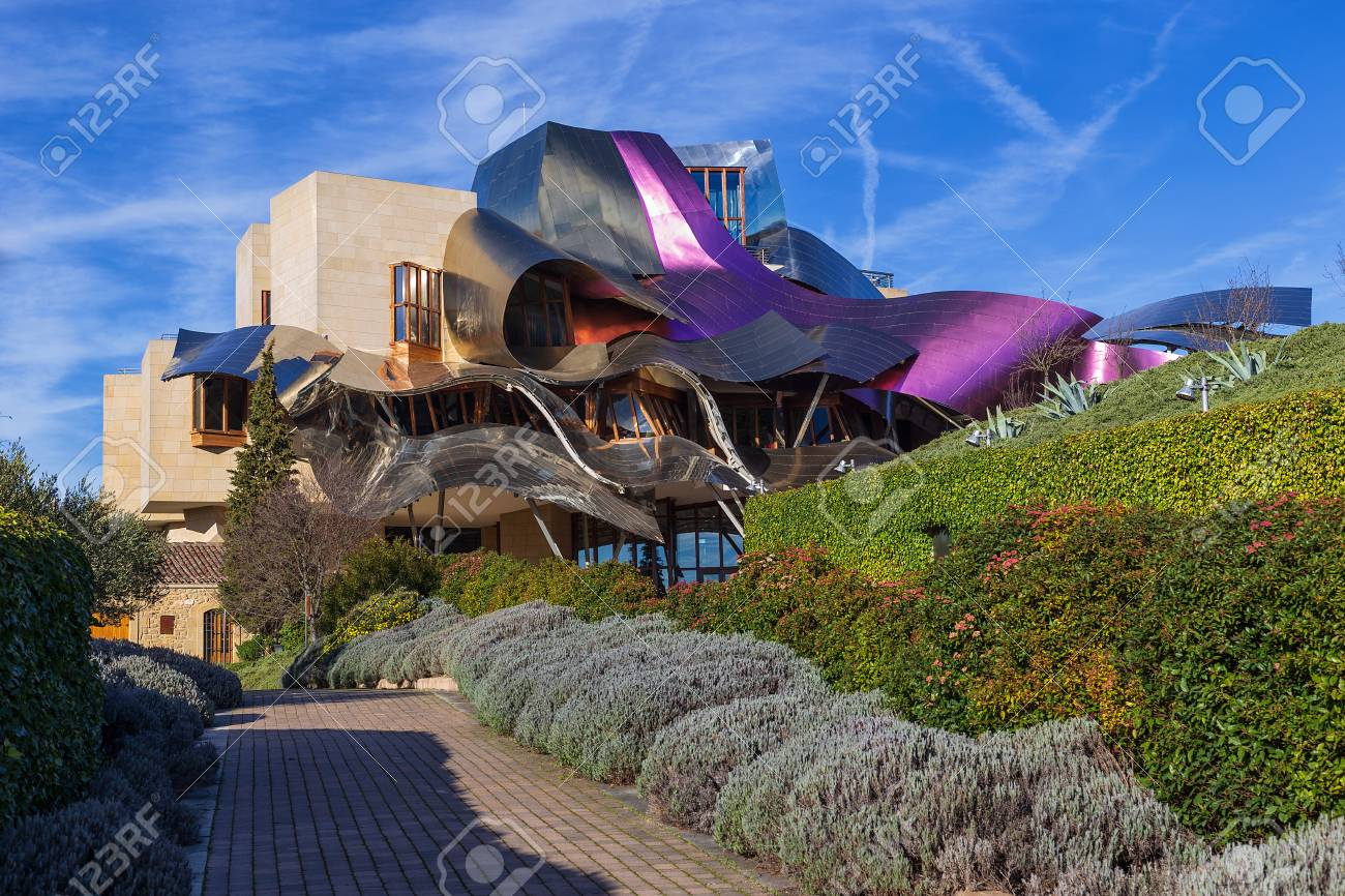 Marques de Riscal Hotel, a Frank Ghery building in Elciego, Spain, on March 2018 - 118809509