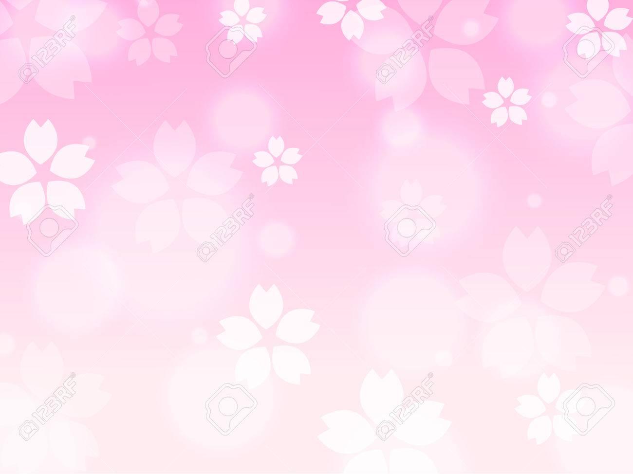 ピンクのさくら桜春背景イラスト ロイヤリティフリークリップアート