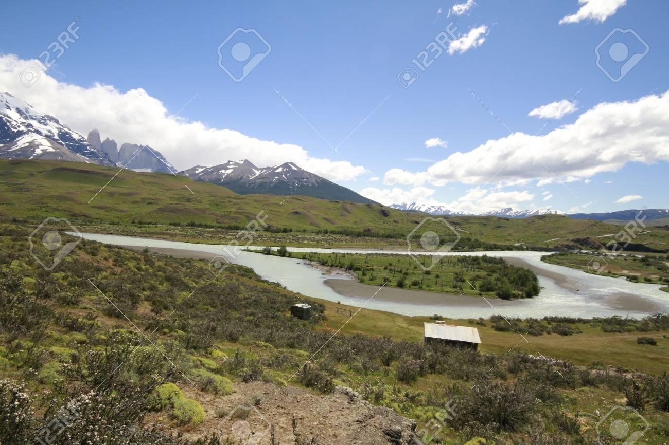 W Trek on Torres Del Paine Park Stock Photo - 17078559