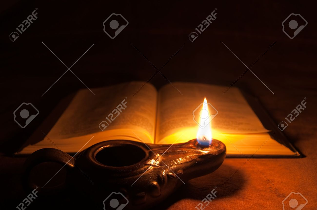 Bible And Oil Lamp Stock Photo, Picture And Royalty Free Image ...