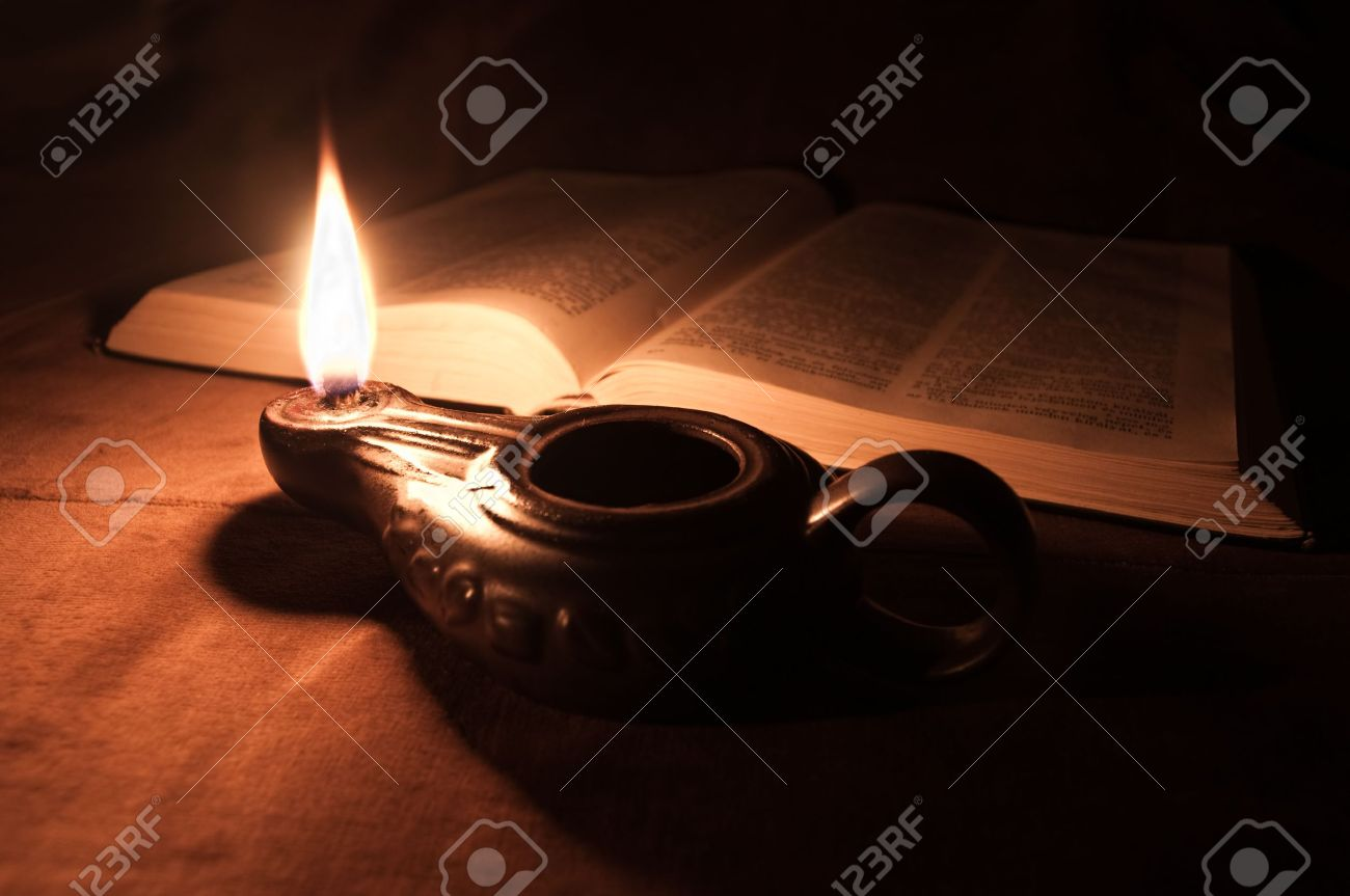Oil Lamp And Bible Stock Photo, Picture And Royalty Free Image ...