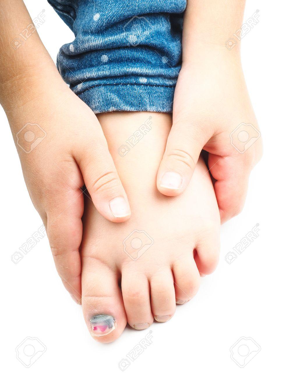 una lesion en el dedo gordo del pie