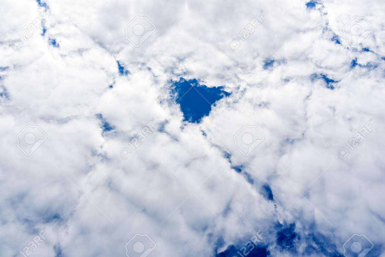 Cloud and blue skay background.Dramatic nice white clouds on a blue heaven. - 164795717
